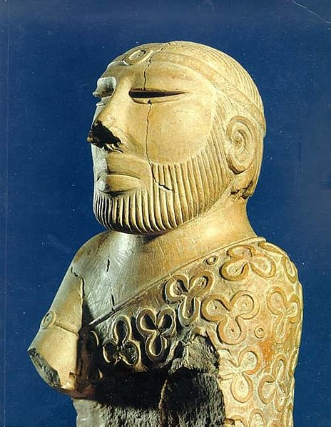 Image of a beared priest found at Mohenjodaro.