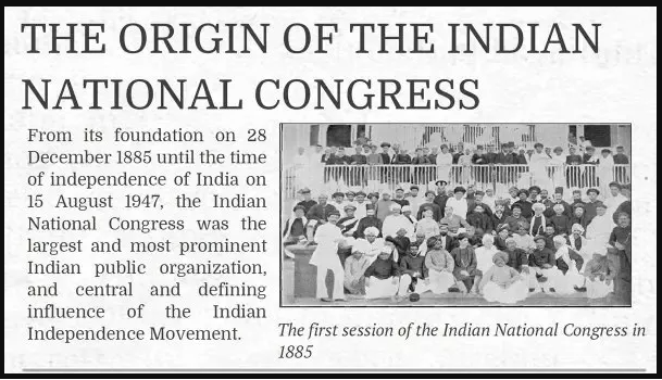 1st session held on 28the December 1885 in Bombay Foundation of Congress