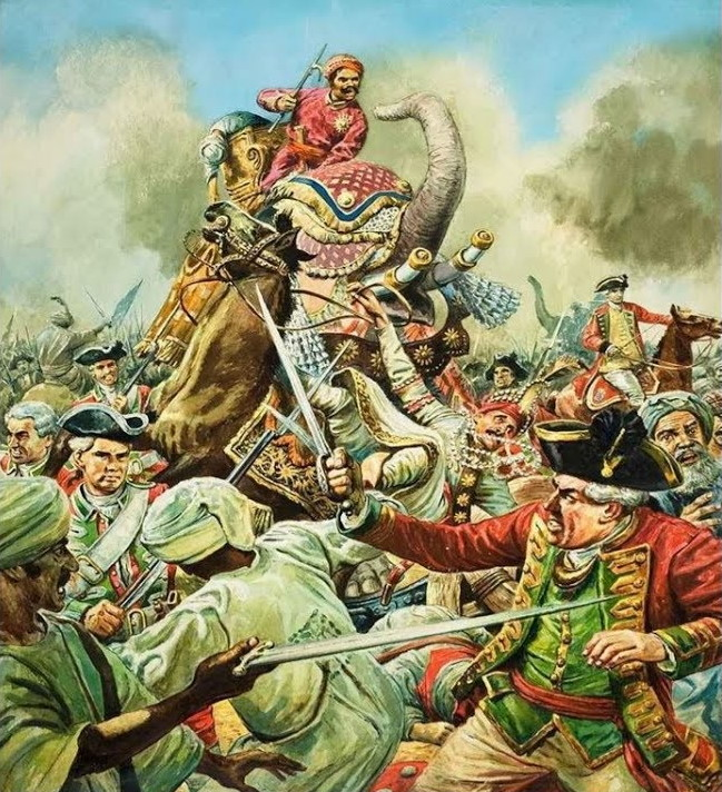 battle of buxar was fought on 22nd October 1764, East India Company