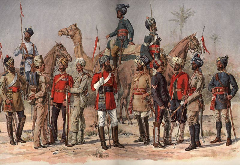 Picture Depciting British Army in India