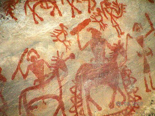 Bhimbetka Stone age painting, Paintings in India