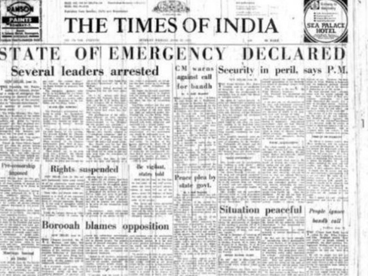 The state of Emergency Declared