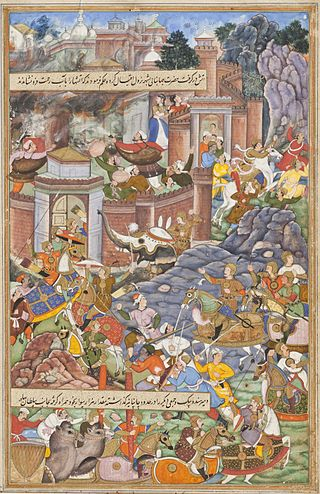 Humayun Fighting with Bahadur Shah