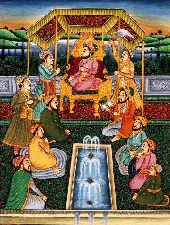 The Mughal Court Scene