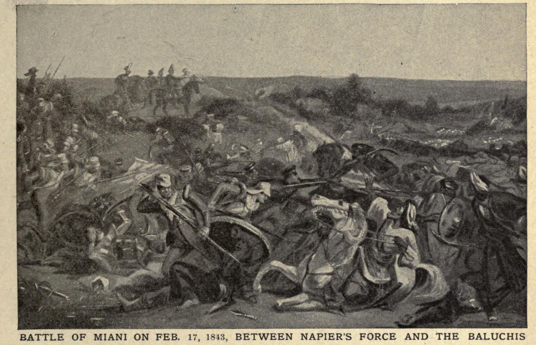 Battle of Miani at SIndh