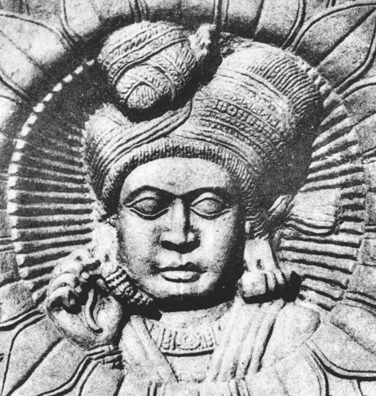 Statue depicting Pushyamitra Sunga