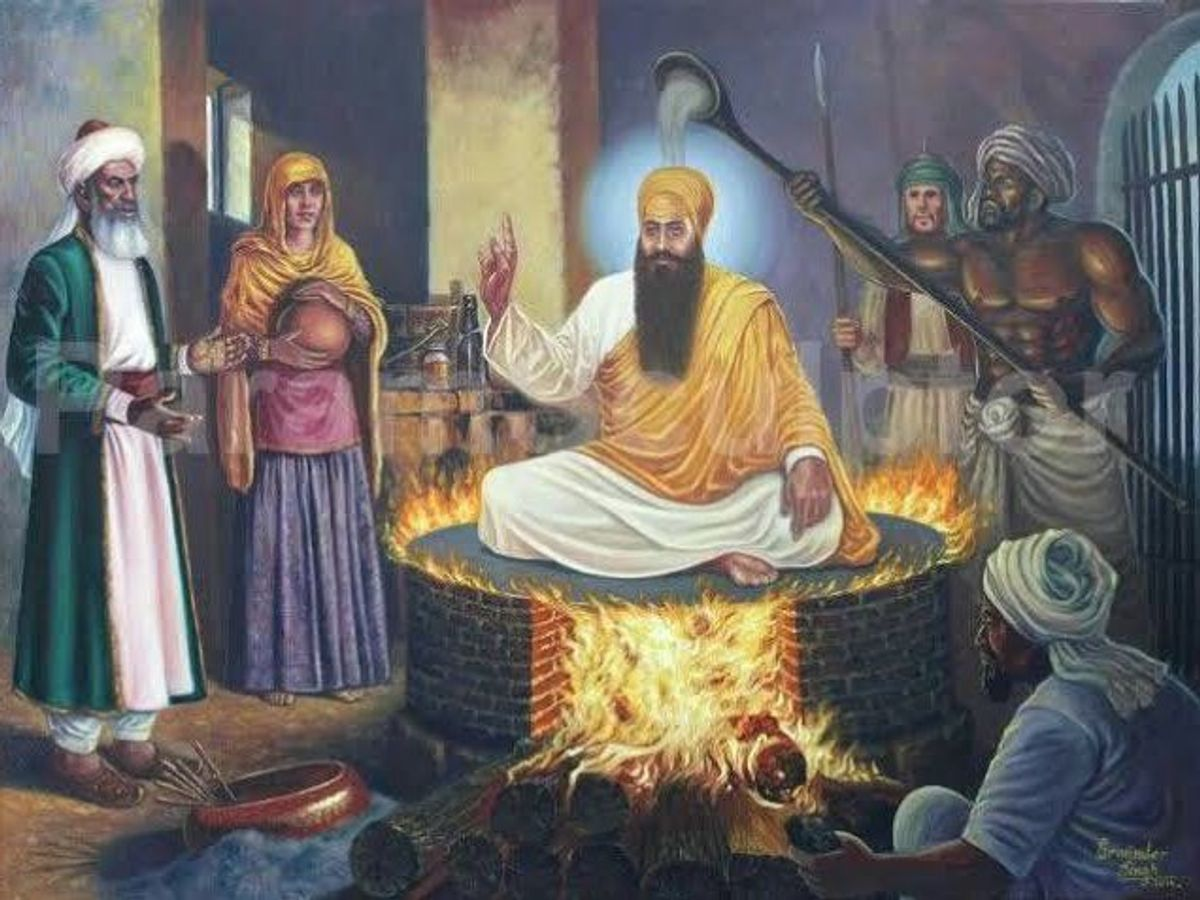 Execution of 5th Sikh Guru Arjan Dev