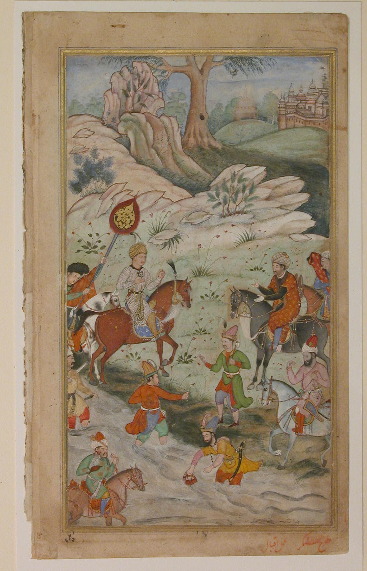 Meeting between Babur and Sultan Ali Mirza at Samarkand