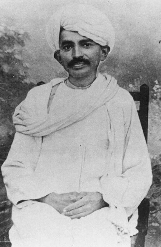 Mahatma Gandhi in his young days