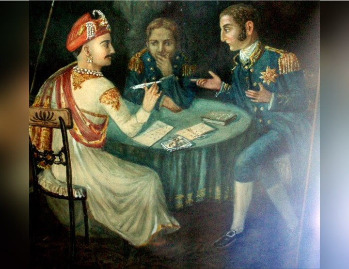 Subsidiary alliance system by East India Company