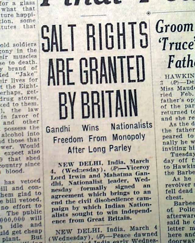 Salt Rights granted by Britain