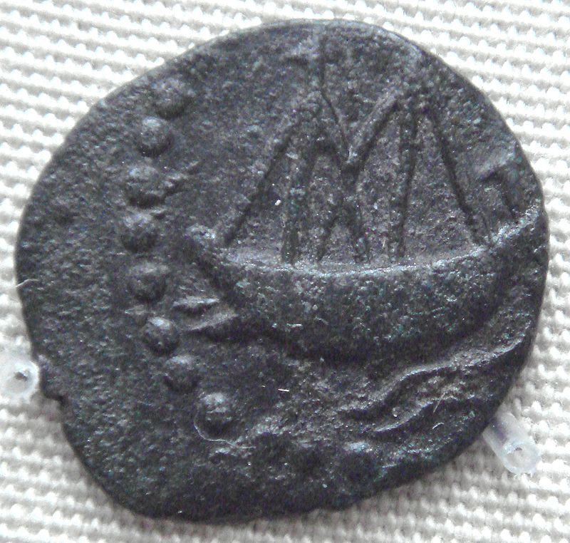 Indian Ship on coin of Vashishputra