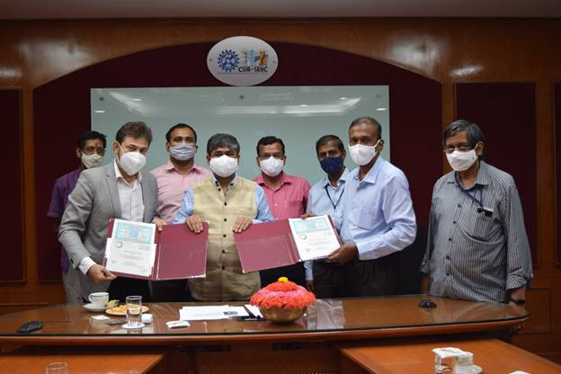 CSIR-SERC signed an agreement with M/s Advait Infratech for the licensing of ERS technology