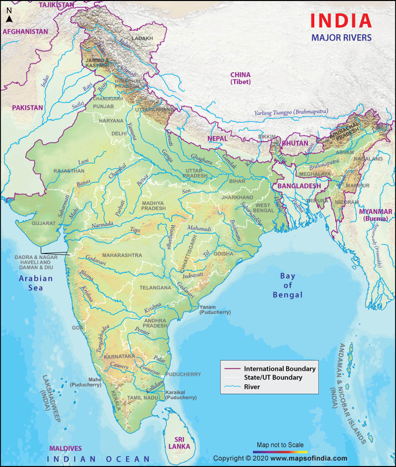 Drainage System of India, Rivers of India